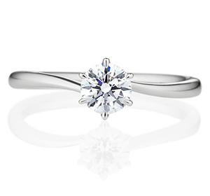 婚約指輪ウェーブラインタイプ