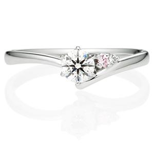 婚約指輪ピンクダイヤモンドタイプ