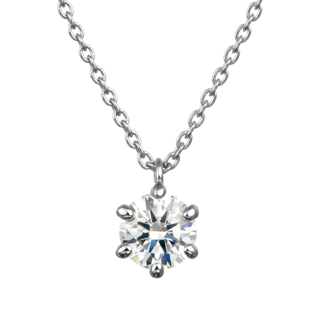 ダイヤモンド6ポイントスルーペンダント