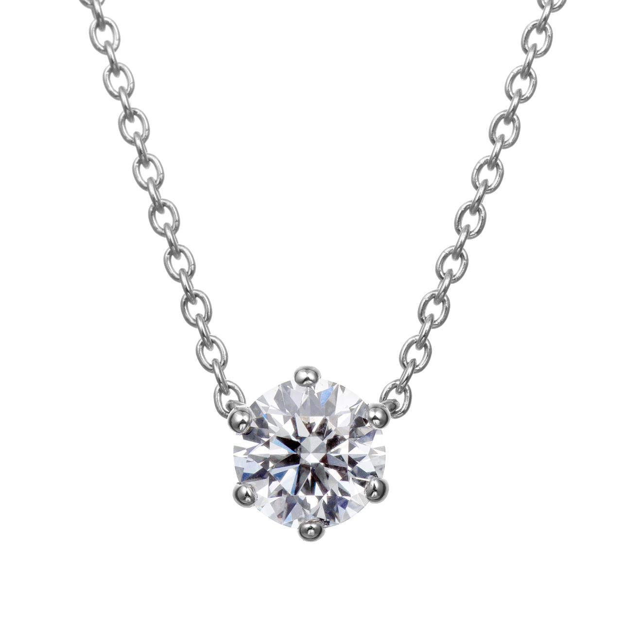 ダイヤモンド6ポイントネックレス