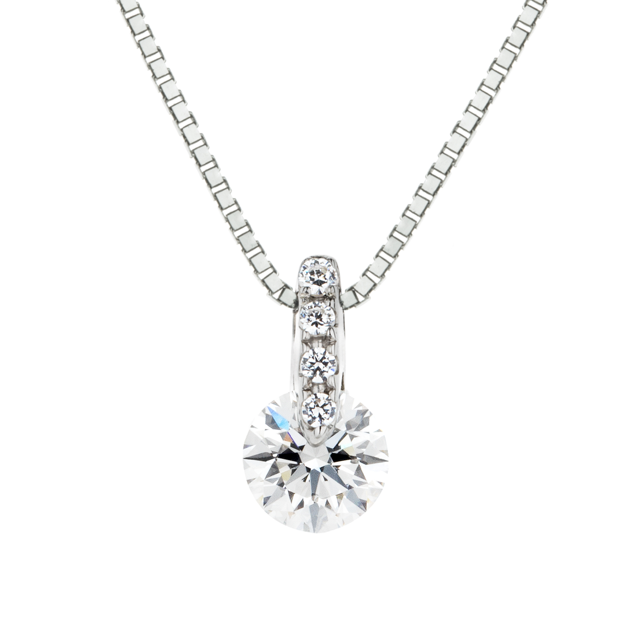 ダイヤモンド1ポイントストレートペンダント