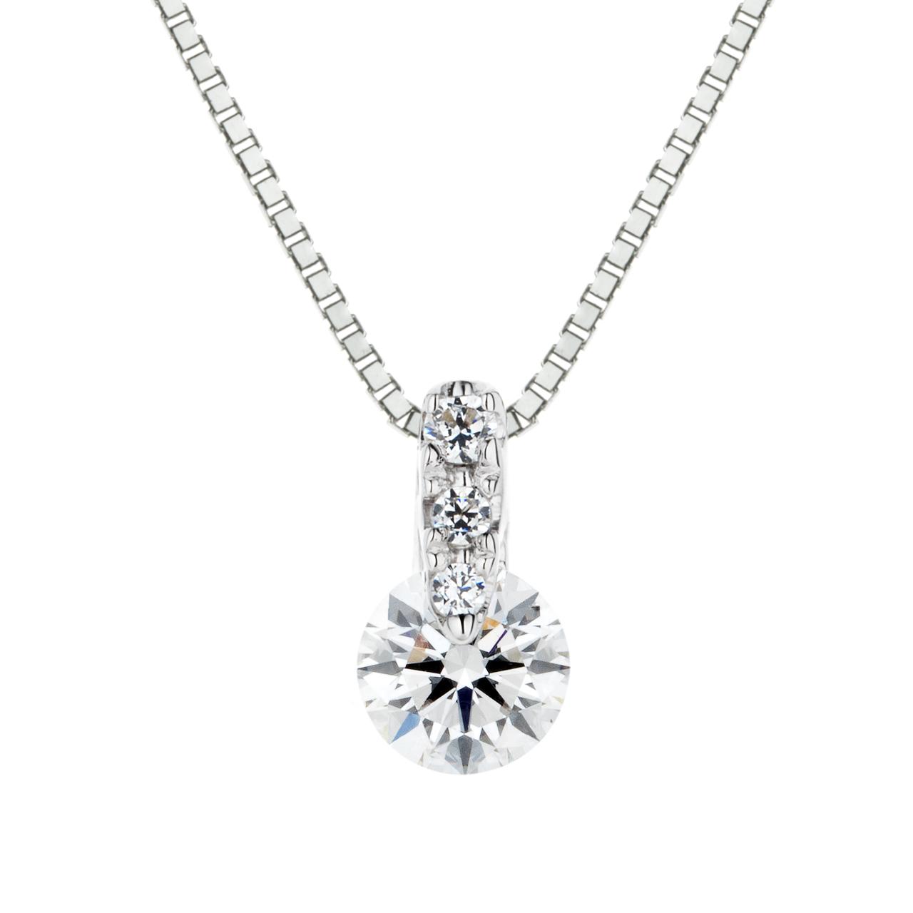 ダイヤモンド1ポイントグラデーションペンダント