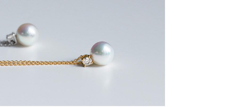 パール+ダイヤモンド