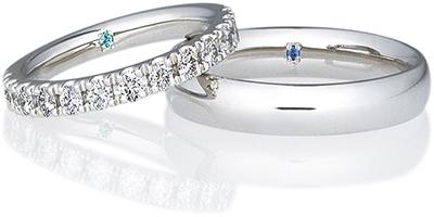 結婚指輪にシークレットストーンを入れる