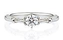 クラシカルタイプの婚約指輪