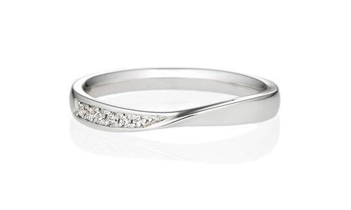 アントルティエ ダイヤモンド片側彫留 2.5mm