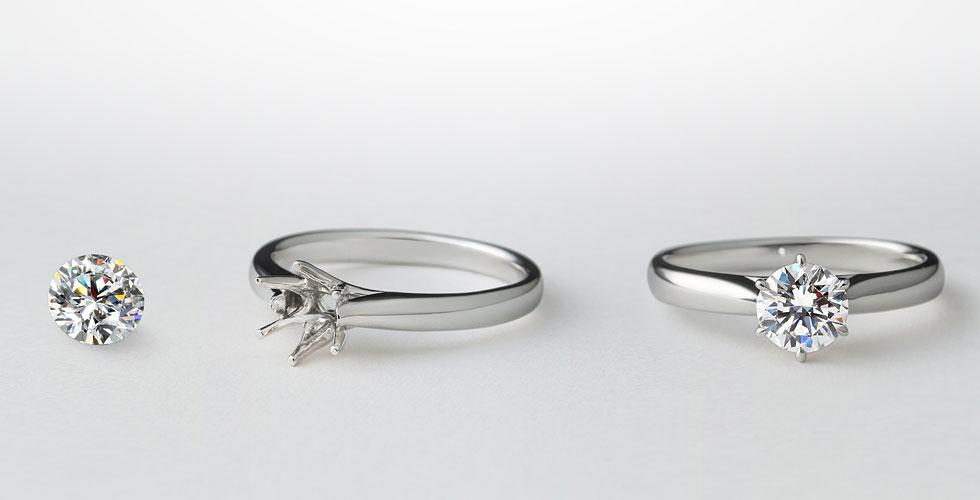 ブリリアンス+ オーダーメイド婚約指輪
